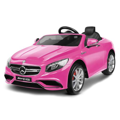 Mercedes Benz S63 Licensed Pink 12v Ride-On Kids Car