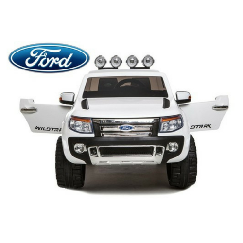 Ford Ranger Pickup Truck White 12v Kids Ride-On Car + Remote