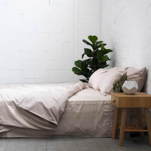 EDEN Cotton Quilt Cover - Nude