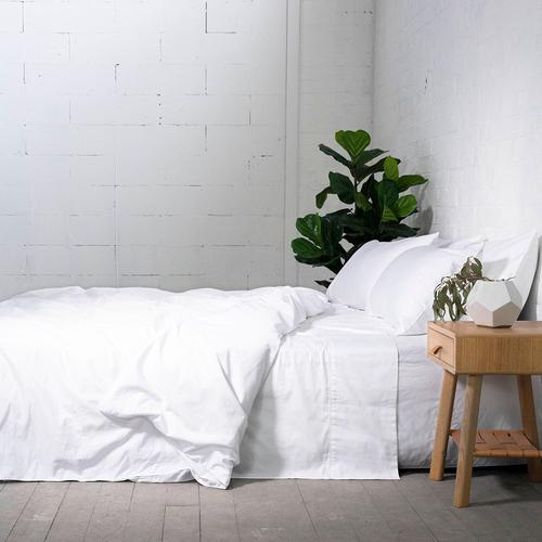 EDEN Cotton Sheets - WHITE