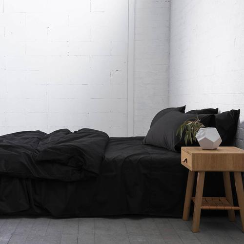 EDEN Cotton Sheets - BLACK