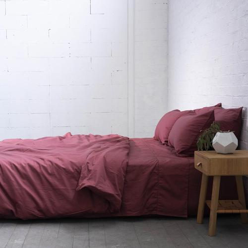EDEN Luxe Cotton Sateen Sheets - ROSE