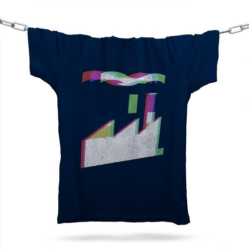 Official Factory Records T-Shirt / Navy
