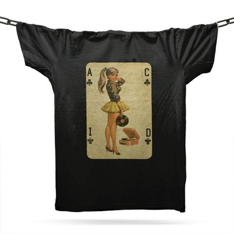 Acid House Pinup Girl T-Shirt / Black