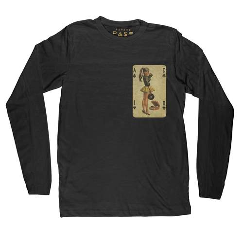 Acid House Pinup Long Sleeve T-Shirt / Black