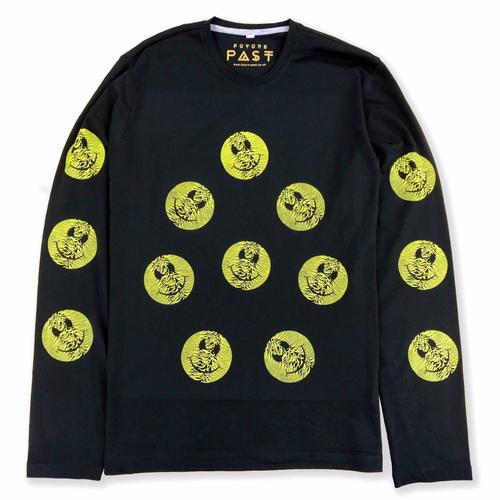 Multi Pulsar Smiley Long Sleeve T-Shirt / Black