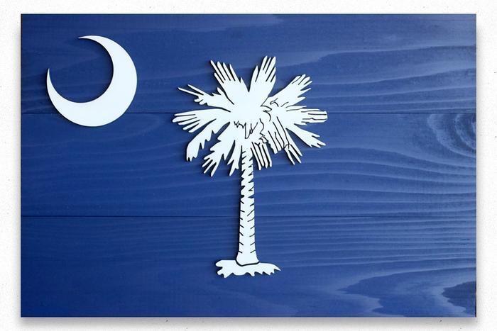 South Carolina Wood Flag