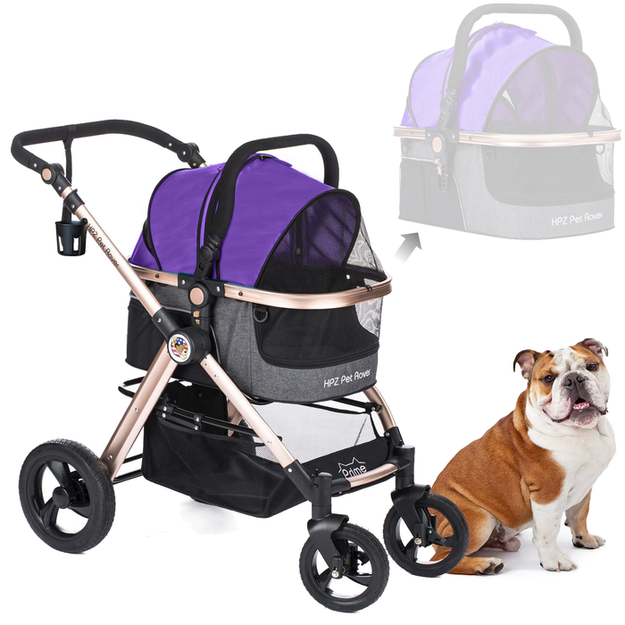 PET ROVER PRIME™ Luxury 3-in-1 Stroller for Small/Medium Dogs, Cats and Pets (Sky Blue)