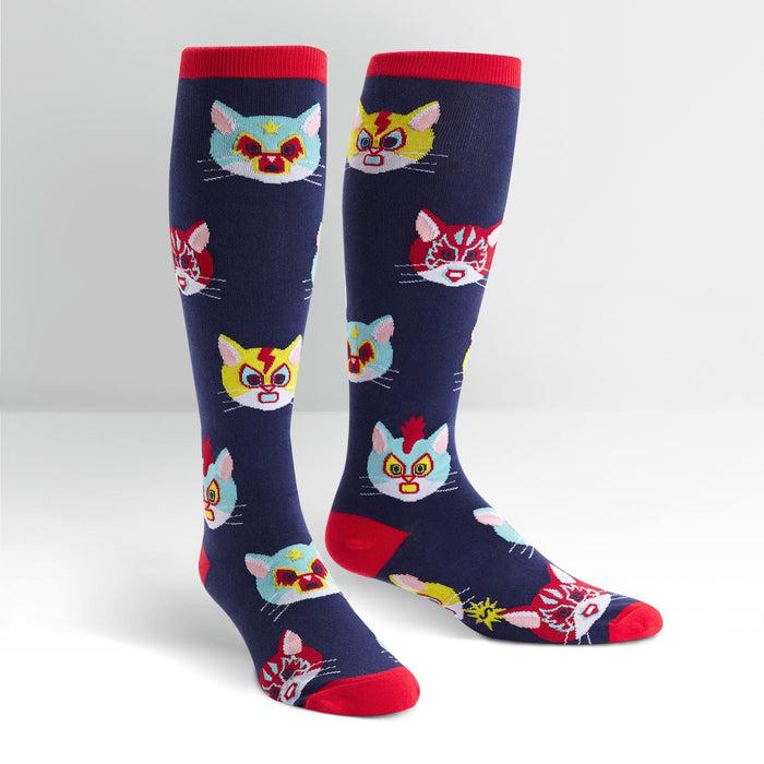7a576d2ff9e Gato Libre Socks -- Wide Calf Knee High Socks for Women