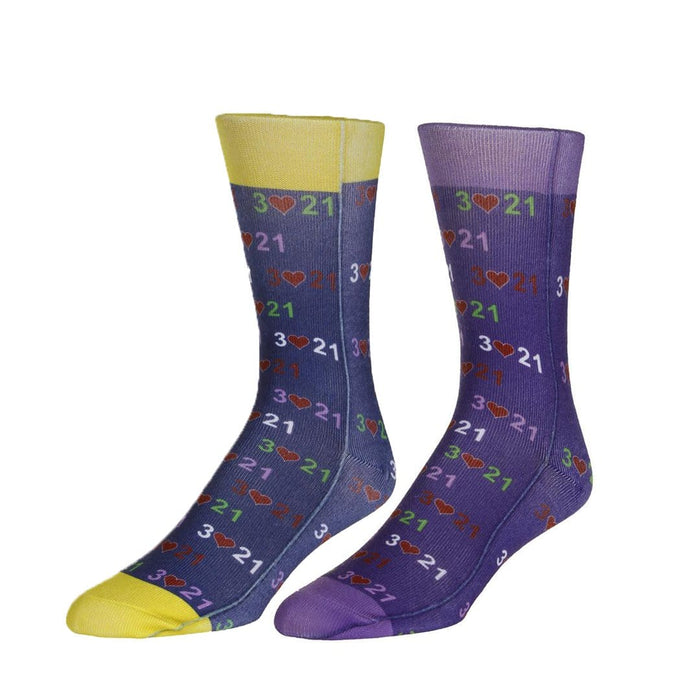 97a22568211a6 Mismatched Down Syndrome Awareness Socks - Unisex Crew