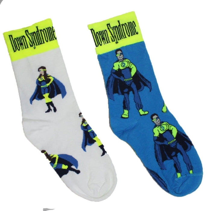 7eafc809102 Mismatched Down Syndrome Super Hero - Crew Socks for Women
