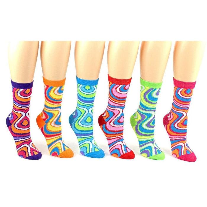 baa312442 Swirl Patterned Socks Women's Crew Sock