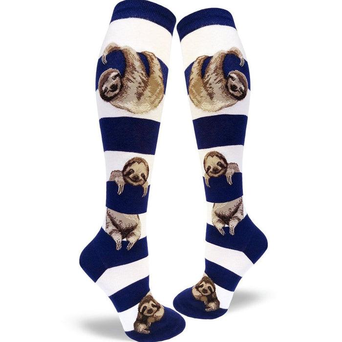 d9e171d132b Sloth Stripe Socks - Knee High Socks for Women
