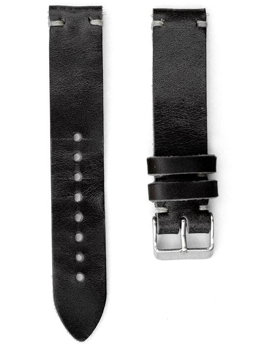VAER Horween Strap - Black Leather