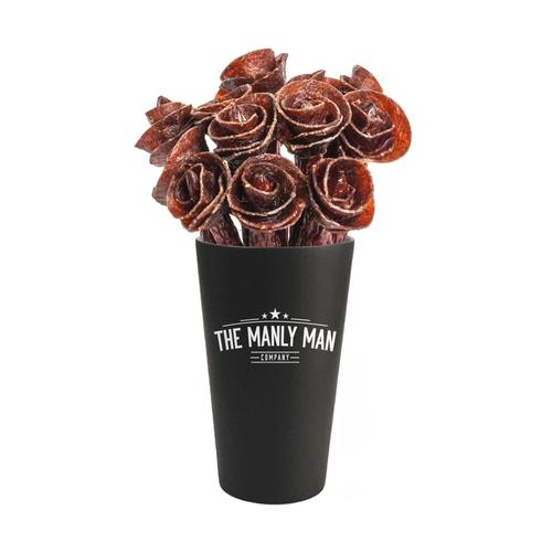 Valentines Day Pre-Order of Beef Jerky Rose Bouquet - Black Steel Edition