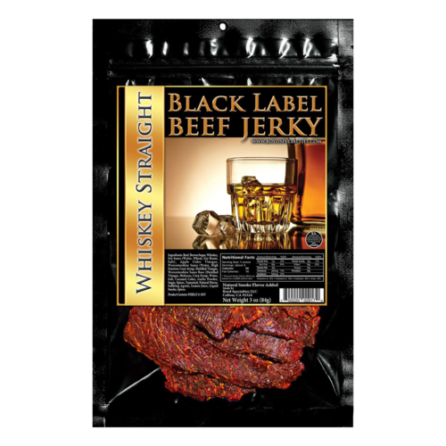Black Label Beef Jerky - Whiskey Straight