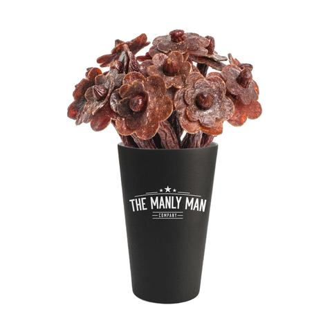 Beef Jerky Flower Bouquet - Black Steel Edition