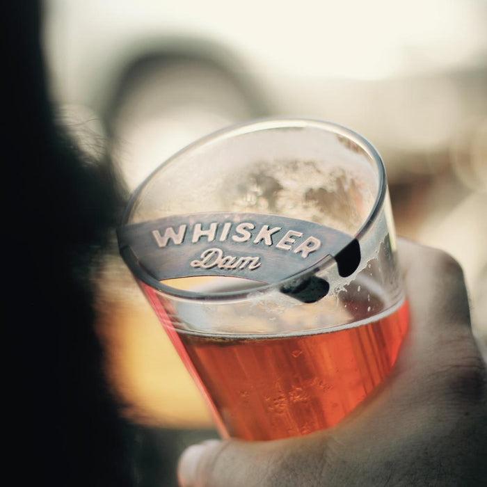The Whisker Dam - Mustache Beer Foam Guard