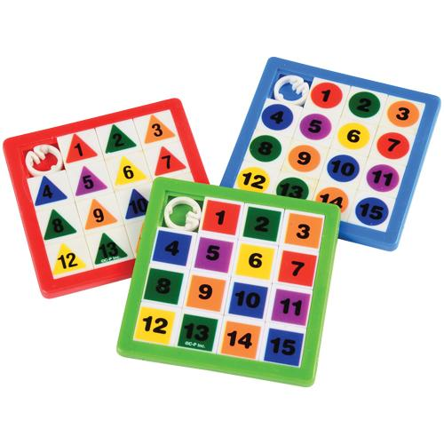 Numeric Slide Puzzle (pack of 8)