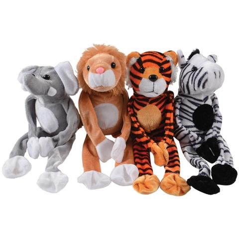 Wild Animals with Velcro Hands (1 Dozen)
