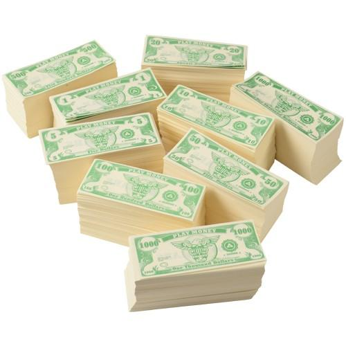 Play Money - Assorted Bill Denominations (Pack Of 1000)