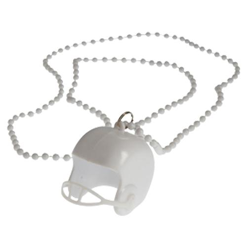 Football Helmet Necklaces - White (One Dozen)