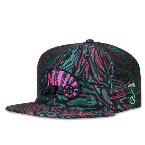 finest selection 6dc28 82eb8 Removable Bear Pink Chameleon Snapback Hat. Bought for a friend
