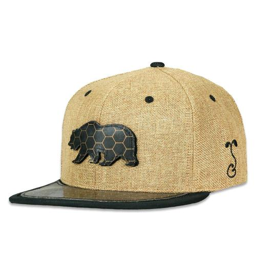 5d192eed BearSlick Removable Bear Tan Snapback Hat