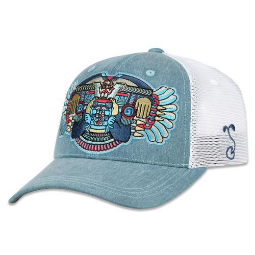 promo code c708c 38b94 Mayan Smile Mesh Dad Hat