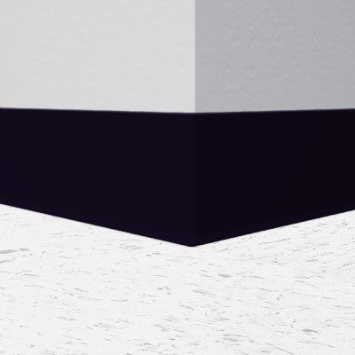 "Black 6"" x 1/8"" Rubber Cove Molding 700 Series"
