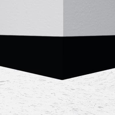 "Black 4"" x 1/8"" RubberMyte Cove Molding"
