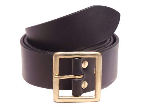 Brass Santa Buckle 2 Inch (50mm) Leather Belt