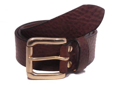 Brass Roller 1 1/2 Inch Leather Belt