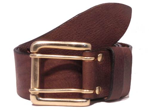 2 Pin Brass Roller 2 Loop 2 Inch Leather Belt