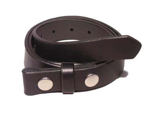 100% Real Black 1 Inch (25mm) Leather Belt Strap