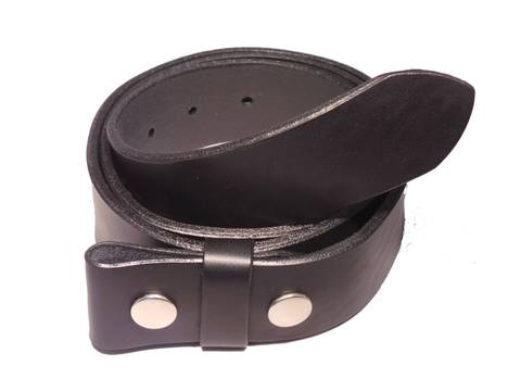 "100% Real Black 1 1/2"" Inch (38mm) Leather Belt Strap"