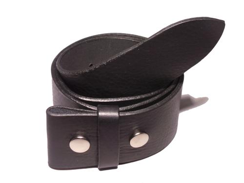 "100% Real Black 2"" Inch (50mm) Leather Belt Strap"