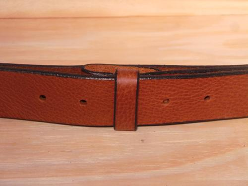 "100% Real Brown 1"" Inch (25mm) Leather Belt Strap"