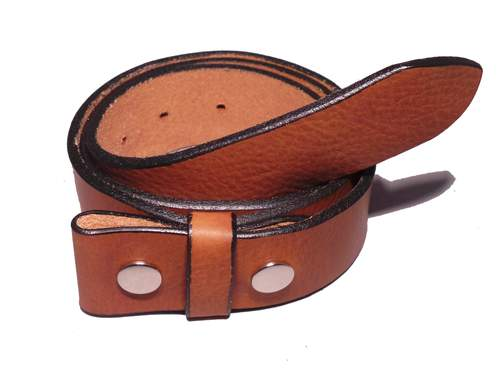"100% Real Brown 1 1/2"" Inch (38mm) Leather Belt Strap"