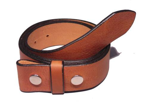 "100% Real Brown 1 3/4"" Inch (45mm) Leather Belt Strap"