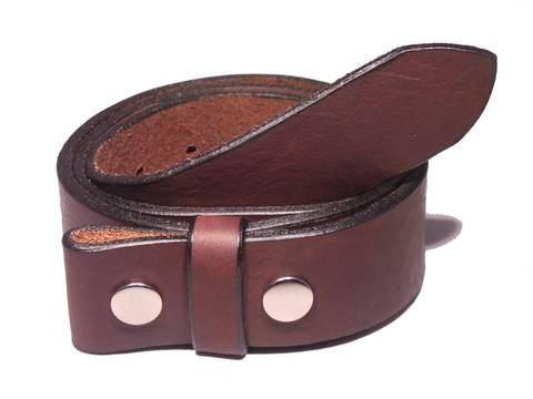"100% Real Dark Brown 1 1/2"" Inch (38mm) Leather Belt Strap"