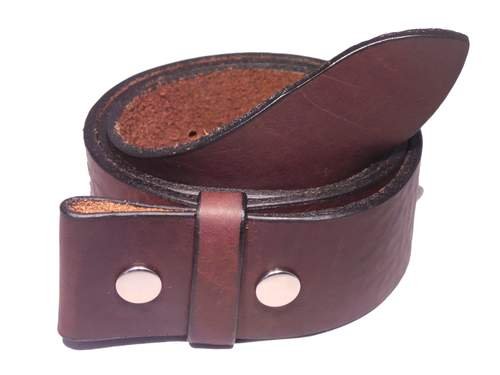 "100% Real Dark Brown 1 3/4"" Inch (45mm) Leather Belt Strap"