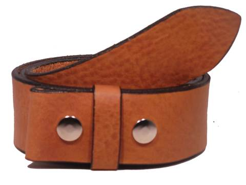 "100% Real Dark Tan 1 3/4"" Inch (45mm) Leather Belt Strap"