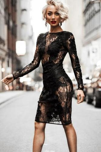 Lost Angel Black Lace Dress(Ready To Ship)
