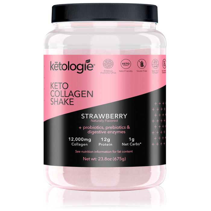 Strawberry Keto Protein Shake- Net Wt. 2.38lb