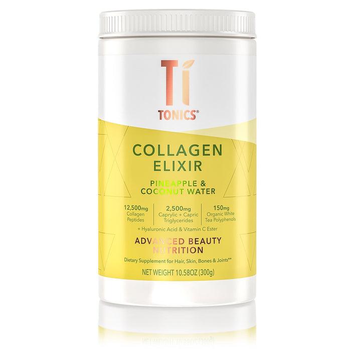 Pineapple & Coconut Water - Ti Tonics® Collagen, White Tea Elixir