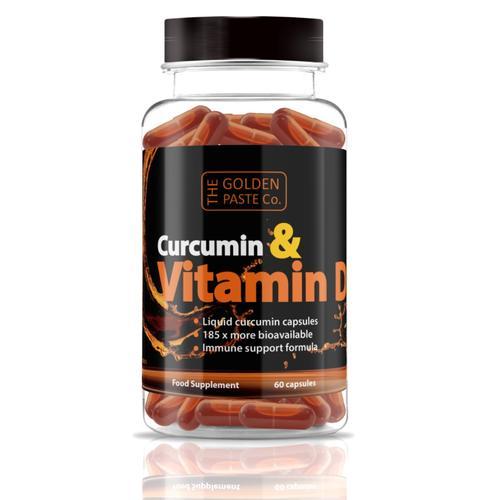 Curcumin and Vitamin D3 Liquid Capsules