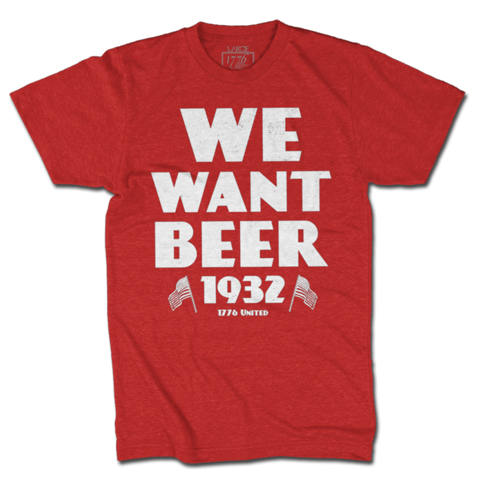 We Want Beer - Red