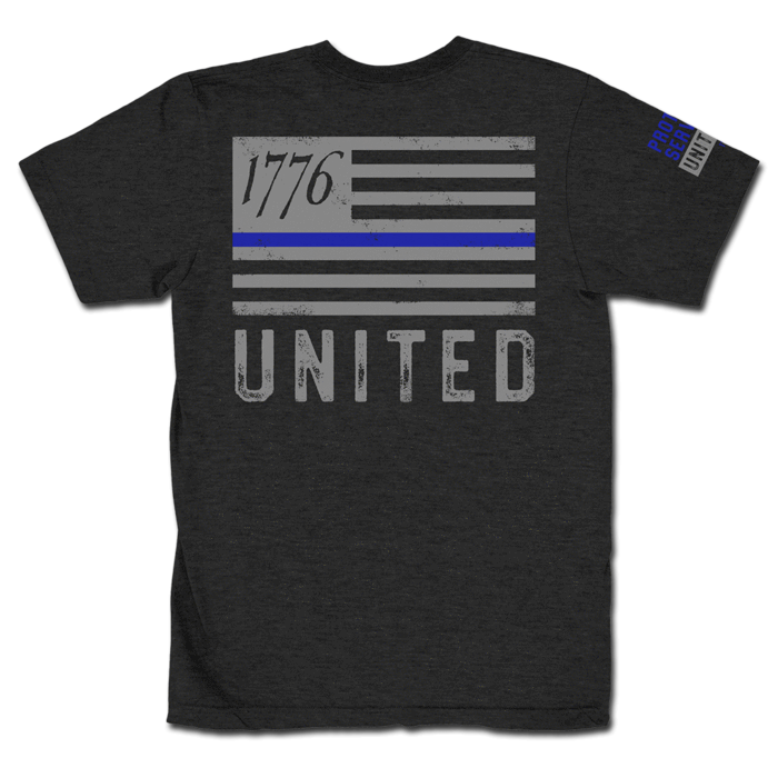 Thin Blue Line - Charcoal