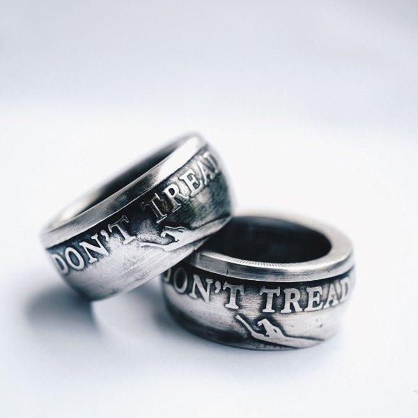 1776 United® Don't Tread On Me Silver Ring